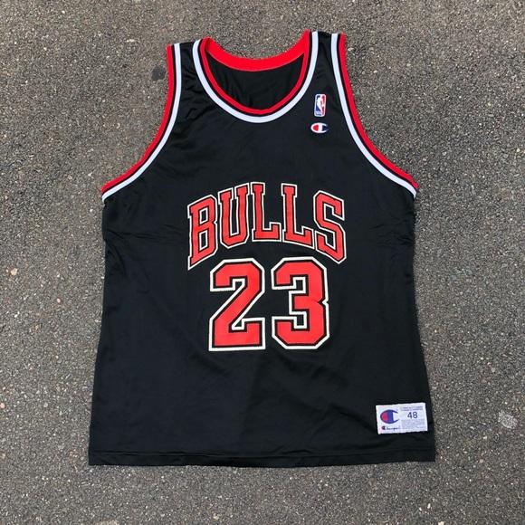 d8bd5d38aa5 Champion Shirts | Vintage Chicago Bulls Jordan Jersey | Poshmark